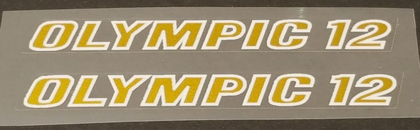 Nishiki Olympic 12 Top Tube Decals - 1 Pair