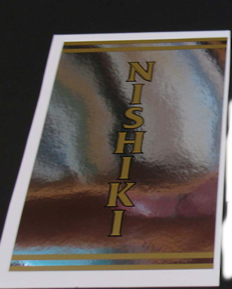 Nishiki Chrome Seat Tube Wrap Decal