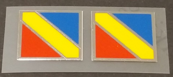 Nishiki Fork Decals - Tri-color with Chrome Accent - 1 Pair