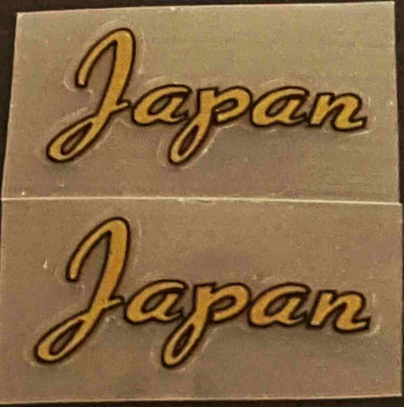 Made in Japan Decal - Gold - 1 Pair