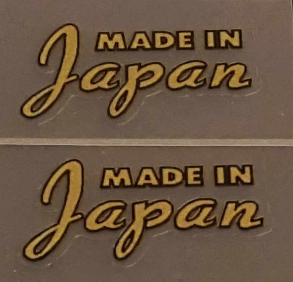Made in Japan Decal - Metallic Gold - 1 Pair