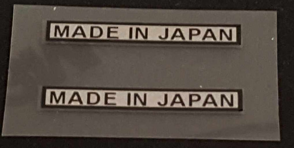Made in Japan Decal - Black on Silver - 1 Pair