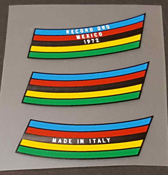 Colnago 3-piece Seat Tube Colored Bands