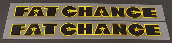 Fat Chance Down Tube Decals - 1 Pair - Choose Colors