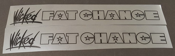 Fat Chance Wicked Down Tube Decals - 1 Pair - Choice of Outline/Wicked Color