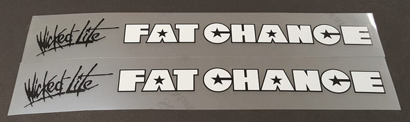 Fat Chance Wicked Lite Down Tube Decals - 1 Pair - Choose Colors