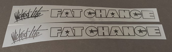 Fat Chance Wicked Lite Down Tube Decals - 1 Pair - Choose Outline/Wicked Color