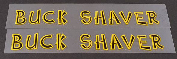 Fat Chance Buck Shaver Top Tube Decals - 1 Pair - Choose Colors