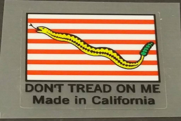 Fat Chance Seat Tube Decal - Made In California - White