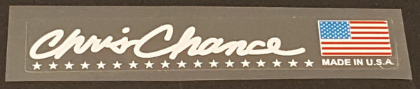 Fat Chance Signature Stay Decal - White