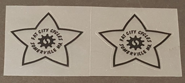 Fat Chance Somerville Head Badge Decals - 1 Pair - Choose Color