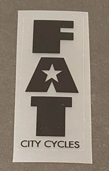 Fat Chance Fat City Cycles Head/Seat Tube Badge Decal - Choose Color/Size