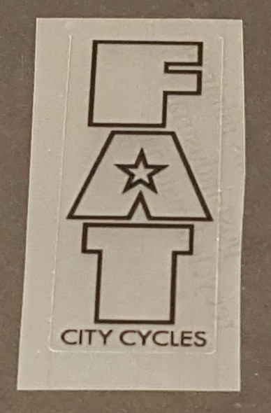 Fat Chance Fat City Cycles Head/Seat Tube Badge Decal - Clear/Choice of Outline Color