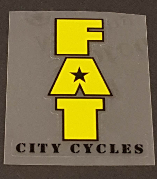 Fat Chance Fat City Cycles Head/Seat Tube Badge Decal - Choose Letter Color