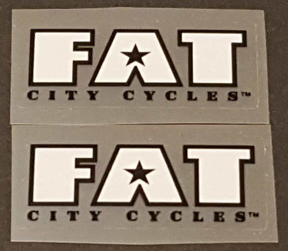 Fat Chance Fat City Cycles Badge Decal - 1 Pair - Choose Colors