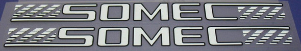 Somec 1980s Down Tube Decals - 1 Pair - Choice of Color