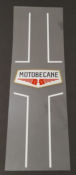 Motobecane Seat Tube Decal with Pinstripes - Choose Stripe Color