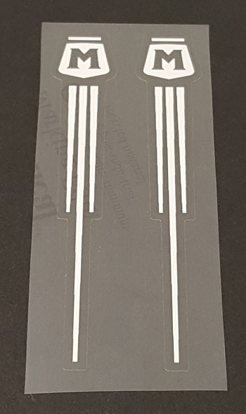 Motobecane Circle/Pinstripes Fork Decals - 1 Pair - Choose Color
