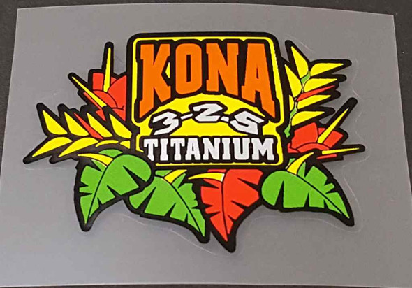 Kona 3.25 Titanium Tubing Decal - Choose Size
