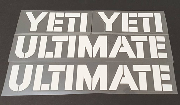 Yeti Ultimate Down Tube Decals - 1 Pair - Choose Color