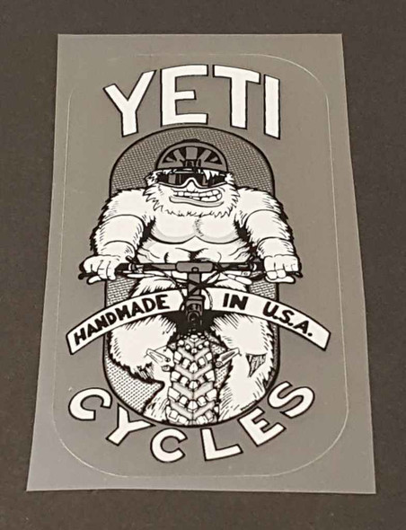 Standing Yeti Head Badge Decal