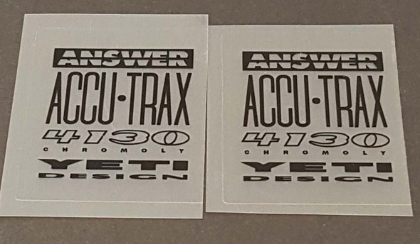 Yeti Answer 4130 Tubing Decals - 1 Pair - Black/Clear