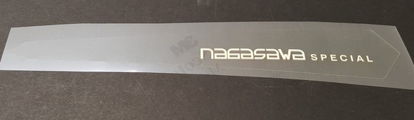 Nagasawa Chain Stay Protector Decal - White