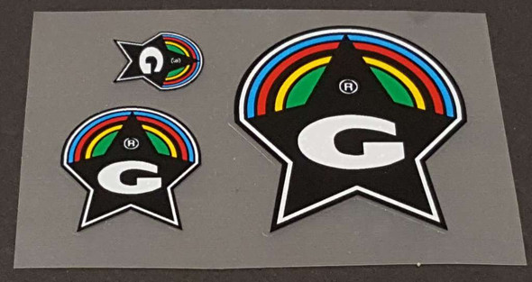 Guerciotti Badge Decals - Set of 3 - Choose Colors
