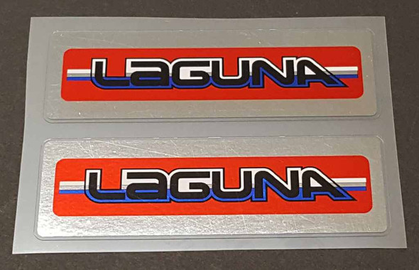Laguna Cruiser Stay Decals with Chrome - 1 Pair - Red