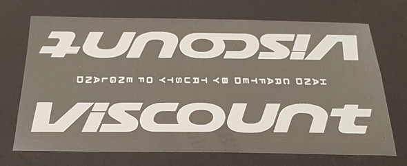 Viscount Down Tube Panel Decal - Choose Color