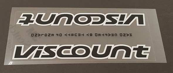 Viscount Down Tube Panel Decal - Choose Colors
