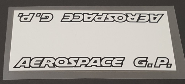 Viscount Aerospace G. P Top Tube Panel Decal - White Background