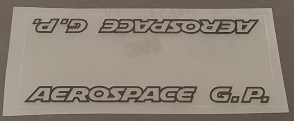 Viscount Aerospace G. P Top Tube Panel Decal - Clear Background
