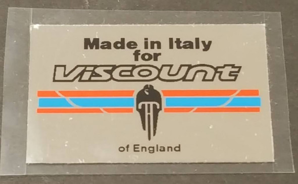 Viscount Chrome Made in Italy Decal