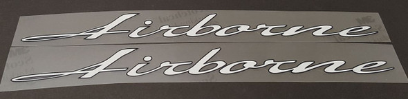 Airborne Down Tube Decals w/Fine Outline - 1 Pair - Choose Colors