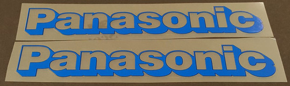 Panasonic Down Tube Decals - 1 pair - Clear with Shadow - Choose Color