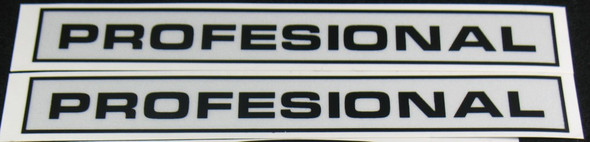 Windsor Professional Down Tube Decals - 1 Pair - Reflective Vinyl