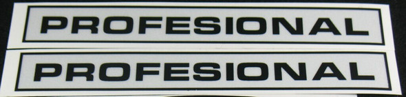 Windsor Professional Down Tube Decals - 1 Pair - Choose Colors