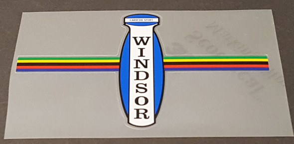 Windsor Carrera Sport Head Badge Decal with Stripes