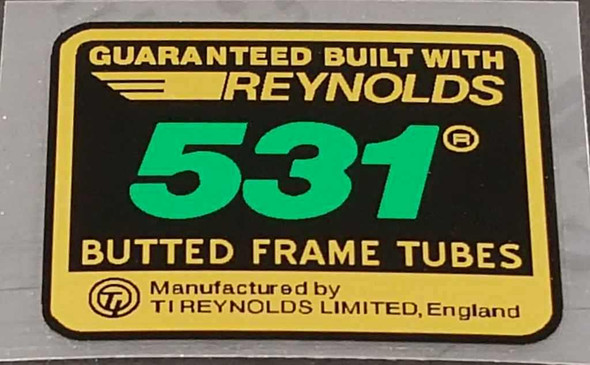 Reynolds 531 Winged Butted Frame Decal