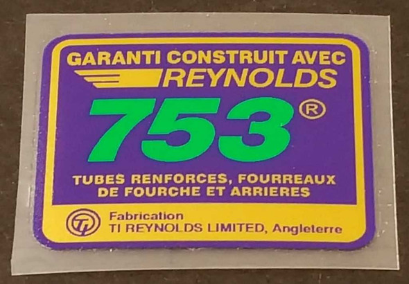 Reynolds 753 Frame Tubing Decal - French