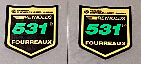 Reynolds Shield 531 Fork Tubing Decals - French