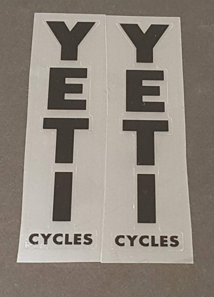Yeti Cycles Seat Tube Decals - 1 Pair Close Cut Vinyl - Choose Color