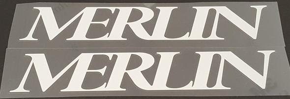Merlin Down Tube Decals  - 1 Pair Cut Vinyl - Choose Color