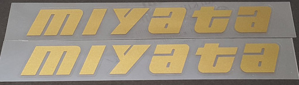 Miyata Down Tube Decals  - 1 Pair Cut Vinyl - Choose Color