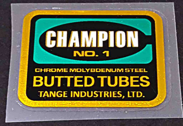 Tange Champion No. 1 Frame Tubing Decal