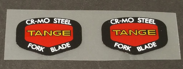 Tange Red Fork Decals - 1 Pair