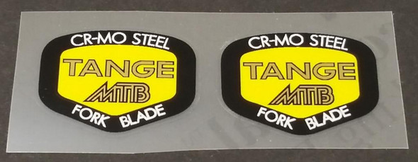 Tange Yellow Fork Decals - 1 Pair