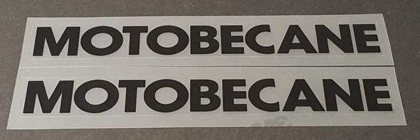 Motobecane Down Tube Decals--1 Pair Cut Vinyl--Choose Color