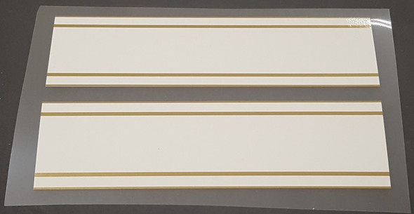 Frejus White Bands with Gold Pinstripes - 1 Pair